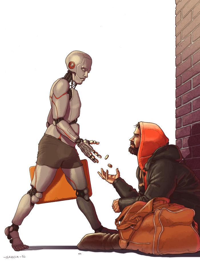 5d8dbd1e862ca 40 Brutally Shocking Illustrations that tell whats Wrong with our Society 5d8a153d1f709  700 - 35 ilustrações instigantes que mostram o que há de errado com nossa sociedade