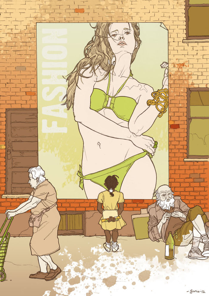 5d8dbd1ec03bd 50 Brutally Shocking Illustrations that tell whats Wrong with our Society 5d8a0fac630cc  700 - 35 ilustrações instigantes que mostram o que há de errado com nossa sociedade