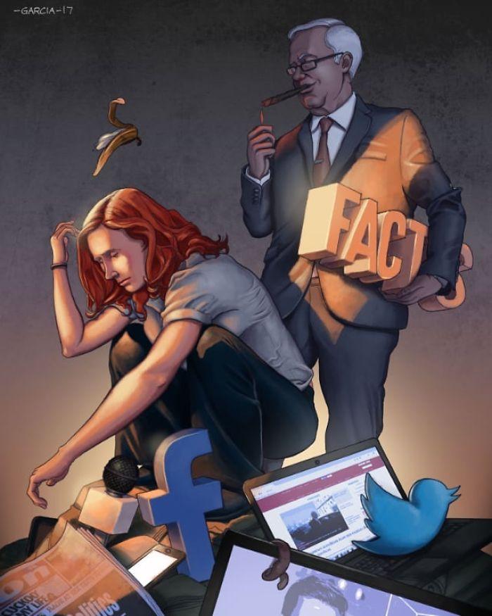 5d8dbd1f31333 40 Shocking Illustrations that show whats Wrong with our Society 5d8b1a67a8945  700 - 35 ilustrações instigantes que mostram o que há de errado com nossa sociedade