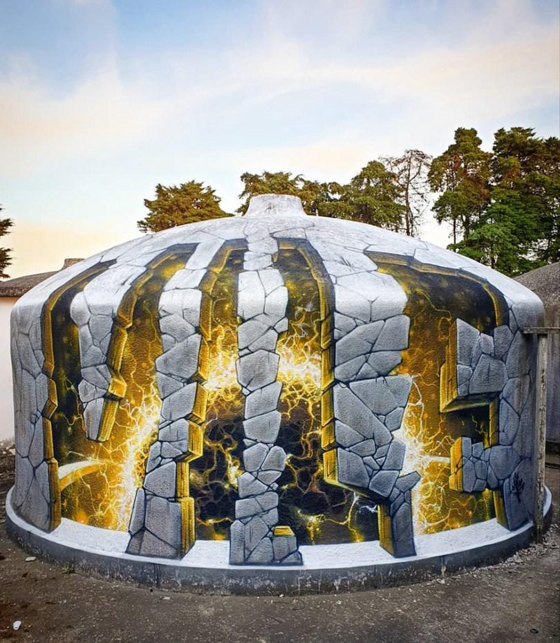 amazing transparent graffiti vile 11 - Português faz as paredes parecerem transparentes usando nada além de tinta Spray