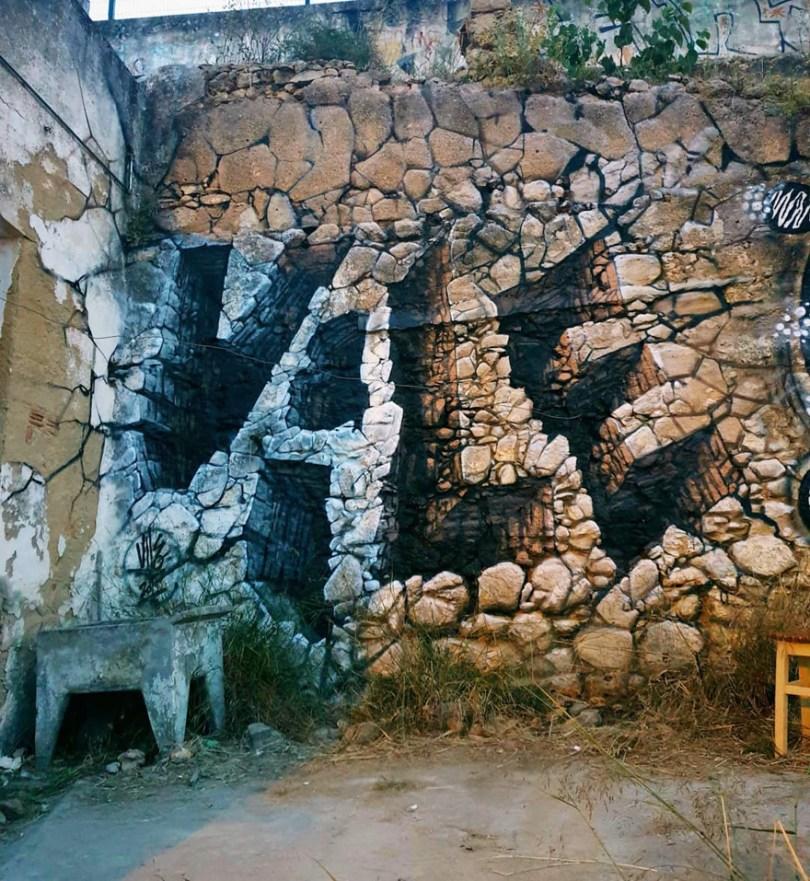 amazing transparent graffiti vile 18 - Português faz as paredes parecerem transparentes usando nada além de tinta Spray