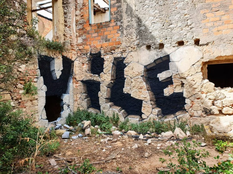 amazing transparent graffiti vile 26 - Português faz as paredes parecerem transparentes usando nada além de tinta Spray