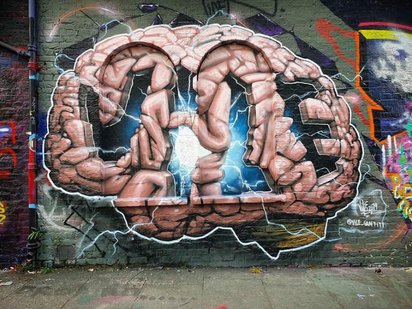 amazing transparent graffiti vile 27 - Português faz as paredes parecerem transparentes usando nada além de tinta Spray