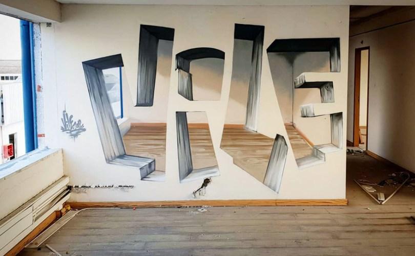 amazing transparent graffiti vile 8 - Português faz as paredes parecerem transparentes usando nada além de tinta Spray