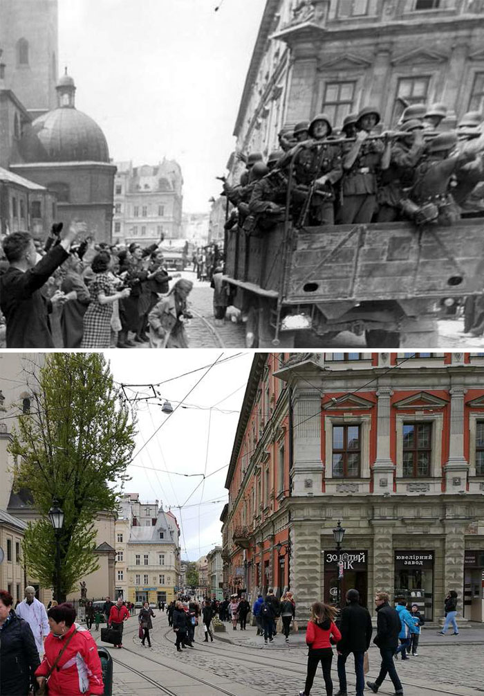 5dc5225e0d35f Europe during World War 2 and Today our top 22 Now And Then images 5dbffd01265c6  700 - 30 fotos fabulosas durante as Guerras e como são esses lugares hoje