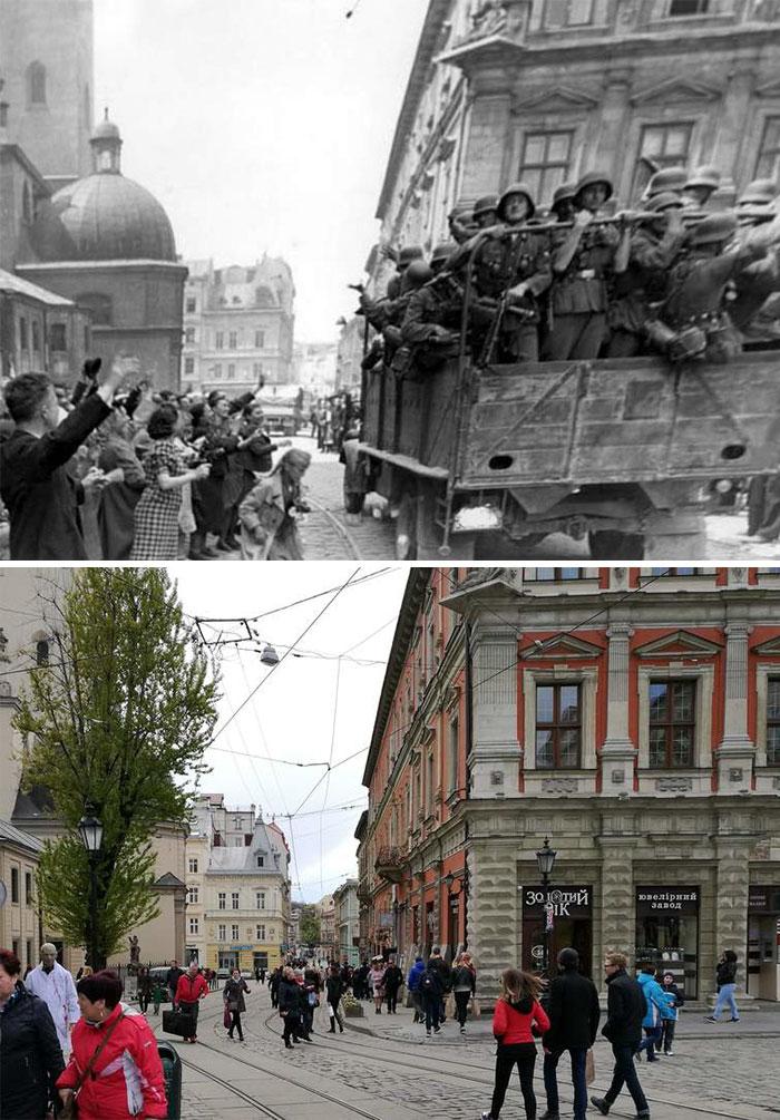 5dc5225e0d35f Europe during World War 2 and Today our top 22 Now And Then images 5dbffd01265c6  700 - 30 fotos fabulosas durante as Guerras e como são esses lugares hoje