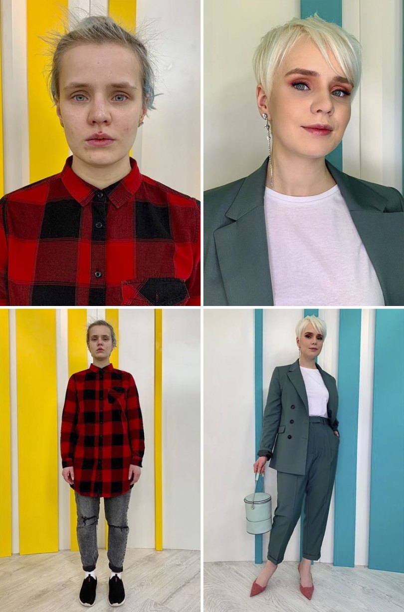 "5dc52266b4a27 before after transformations stylist alexander rogov 127 5dc420c1eadec  880 - Resultado impressionante de pessoas ""repaginadas"" por estilista russo"