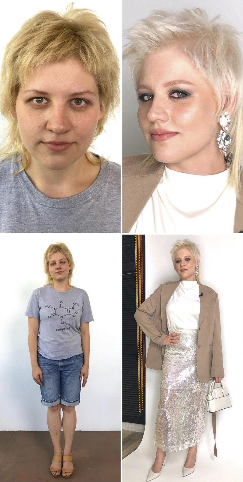 "5dc52269c17d1 before after transformations stylist alexander rogov 133 5dc427982801b  880 - Resultado impressionante de pessoas ""repaginadas"" por estilista russo"
