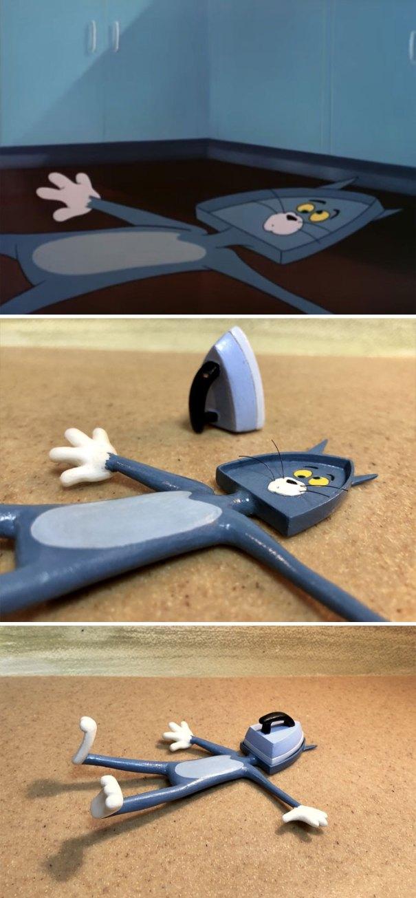 5e05b9c1337c3 funny tom and jerry sculpture taku inoue 62 5e047e12207b6  700 - 27 esculturas hilárias inspiradas nos momentos de Tom e Jerry