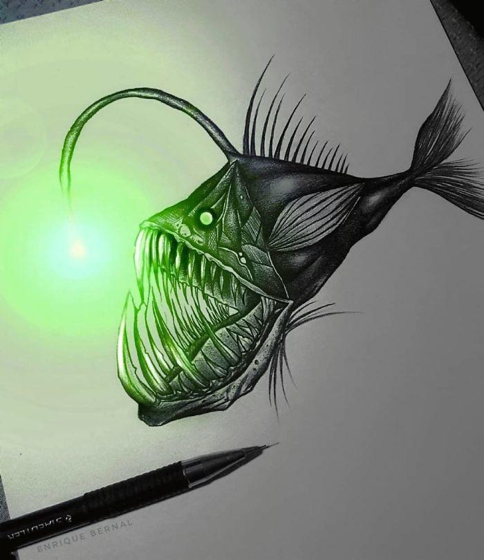 5e4b9f68b31b9 B2Fy1UCp8Zb png  700 - Técnica única deste artista faz parecer que seus desenhos estão brilhando