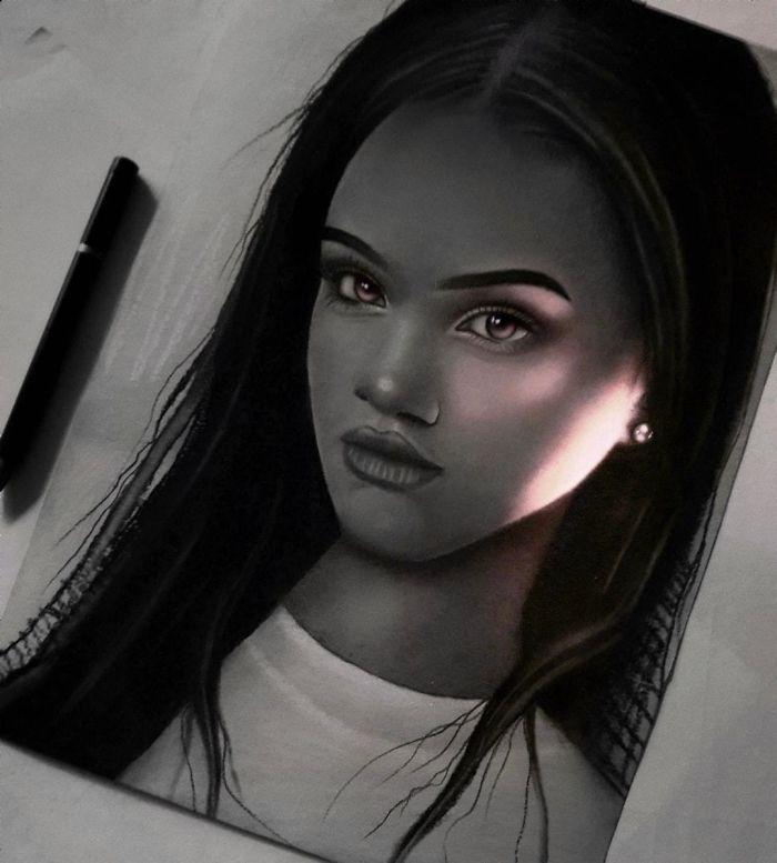 5e4b9f698328c B4 JD1gpDUy png  700 - Técnica única deste artista faz parecer que seus desenhos estão brilhando