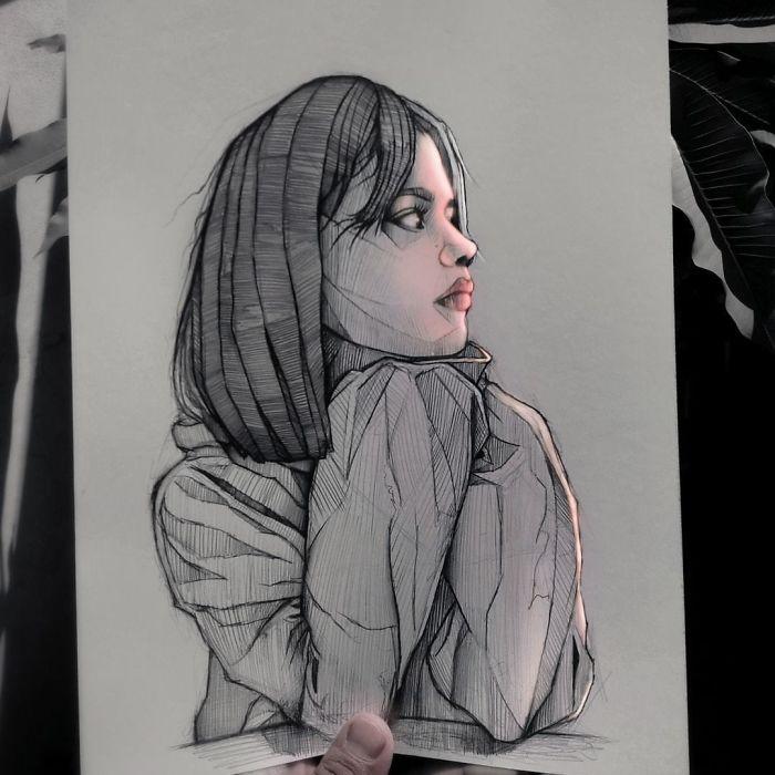 5e4b9f6b40581 B4yua48pPdk png  700 - Técnica única deste artista faz parecer que seus desenhos estão brilhando