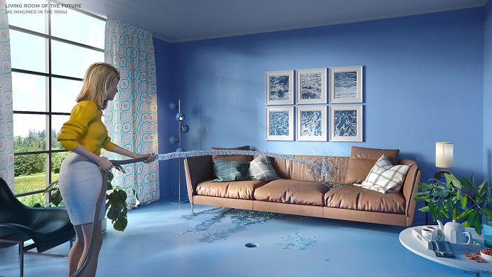 5e5e0b944445a 01a 6 rooms of the future Livingroom 5e584bf2e6f54  700 - Como as Revistas do passado imaginavam que estaríamos vivendo no futuro?