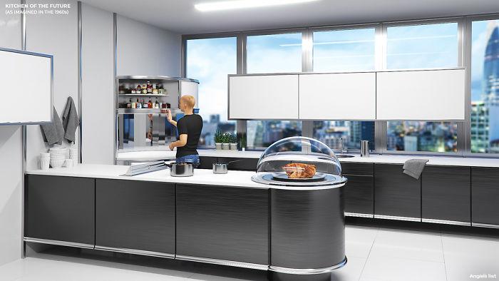 5e5e0b952ca45 02a 6 rooms of the future Kitchen 5e584c118cd70  700 - Como as Revistas do passado imaginavam que estaríamos vivendo no futuro?