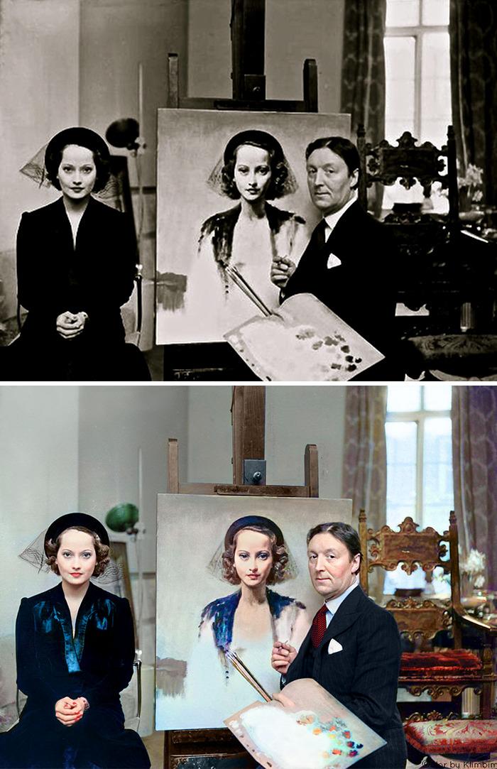 5e69f0c1b6b91 This Russian artist impresses by giving vivid colors to photos of celebrities from the past 5e679b1430902 png  700 - Projetos gráficos: A arte em colorir vídeos e fotos em preto e branco