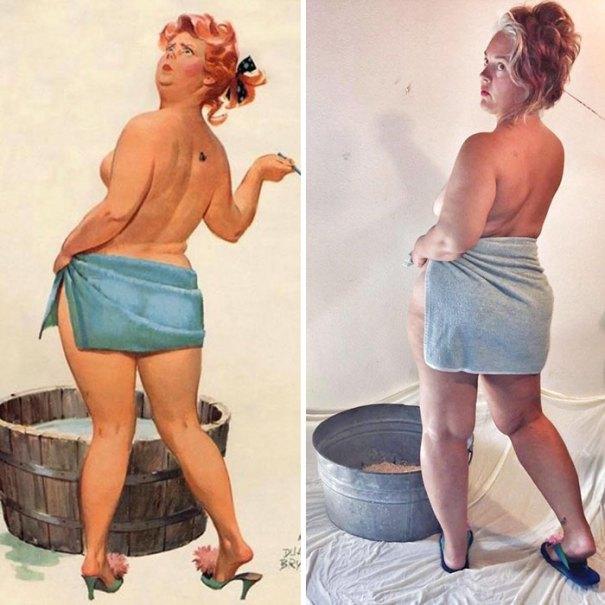 5e6b42c202f8b pinup girl hilda recreation amy pence brown 8 5e69fb68c20d3  700 - Esta mulher recriou a aparência de uma garota esquecida de pin-up dos anos 50