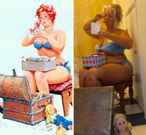 5e6b42c394f4c pinup girl hilda recreation amy pence brown 26 5e69ffd85ca3d  700 - Esta mulher recriou a aparência de uma garota esquecida de pin-up dos anos 50