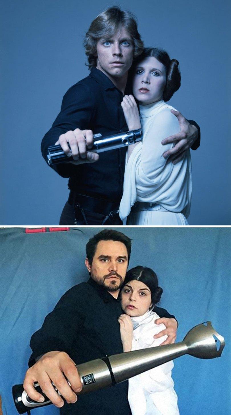 5e96b102871ef couple recreates famous movie scenes 35 5e9574650a01a  700 - Casal em quarentena resolveu passar o tempo recriando cenas de filmes famosos