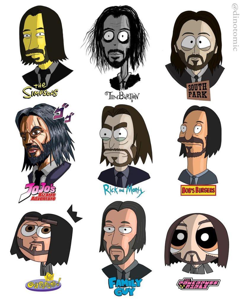 5ea143426c4dd different cartoon styles drawings dinotomic 1 4 5e9e962a9b024  880 - Artista desenhou celebridades como desenhos e o resultado é incrível
