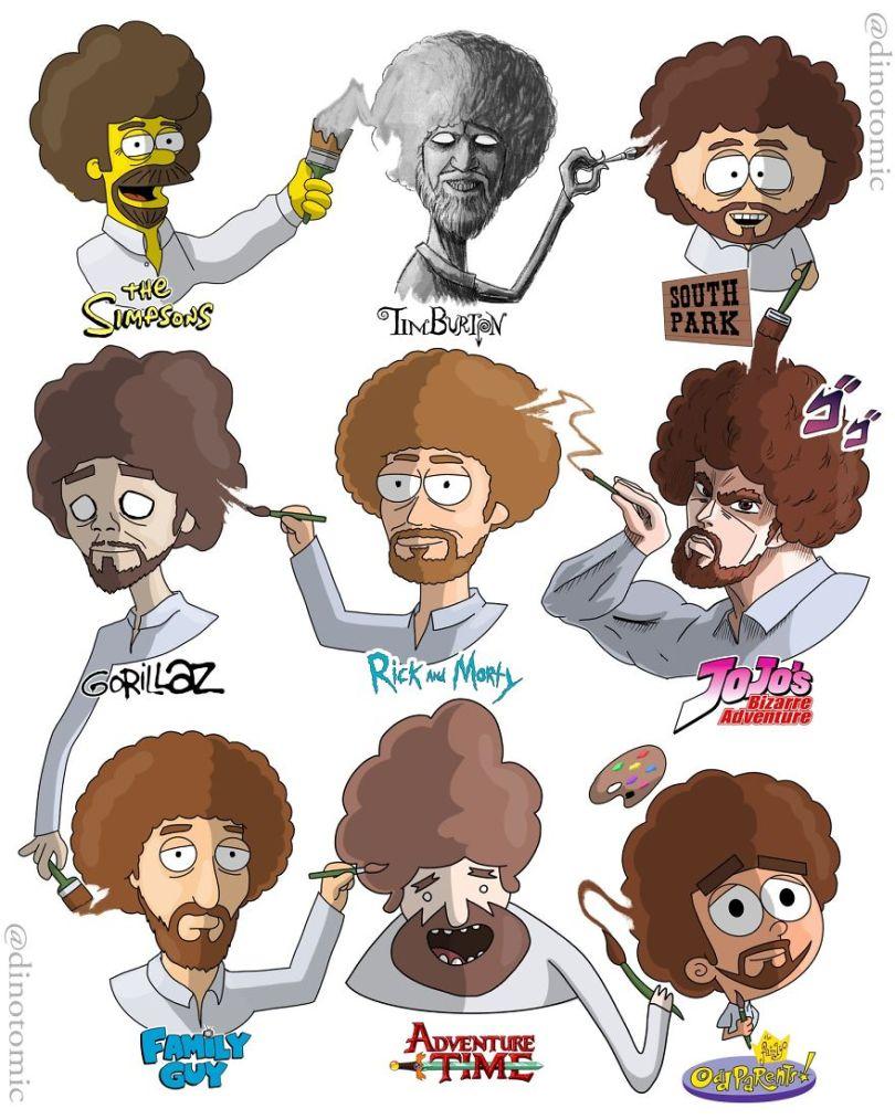 5ea143429c552 different cartoon styles drawings dinotomic 1 14 5e9e96489de62  880 - Artista desenhou celebridades como desenhos e o resultado é incrível