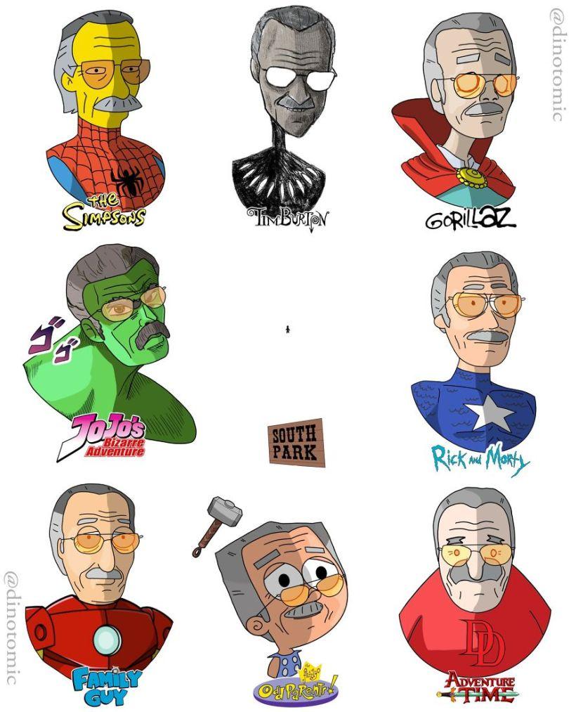 5ea14343b3b11 different cartoon styles drawings dinotomic 1 5 5e9e962d9d728  880 - Artista desenhou celebridades como desenhos e o resultado é incrível