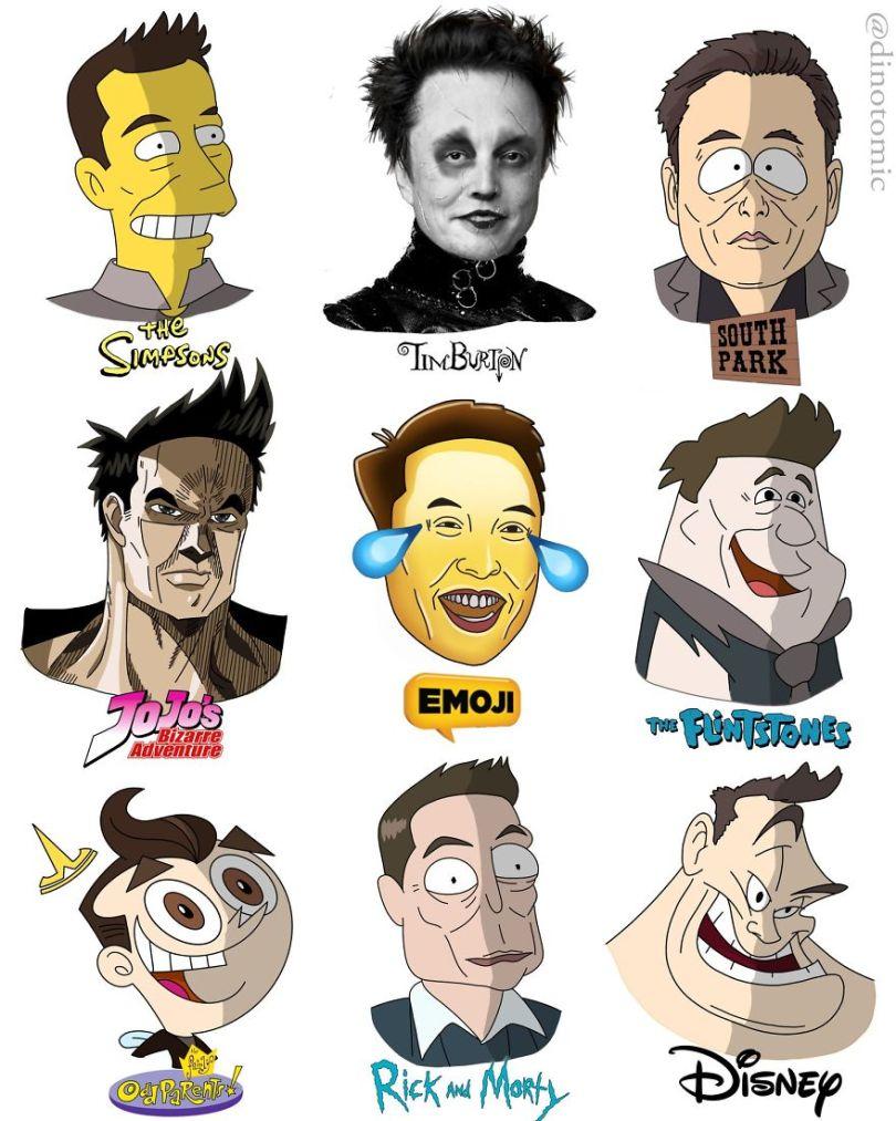 5ea1434484fba different cartoon styles drawings dinotomic 1 2 5e9e9625eb3d2  880 - Artista desenhou celebridades como desenhos e o resultado é incrível
