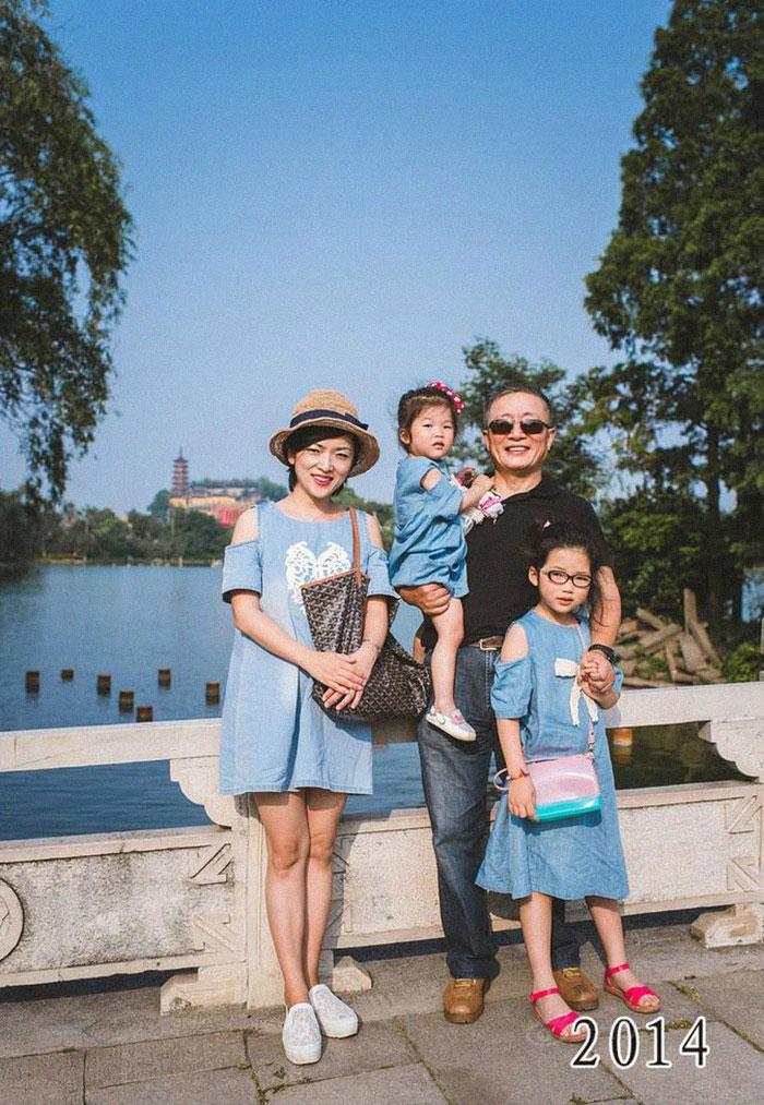 5f3f745cb5800 dad daughter same photo location different year hua yunqing 1 37 5f3e2869dbf77  700 - Mesma foto, mesmo lugar há 40 anos!