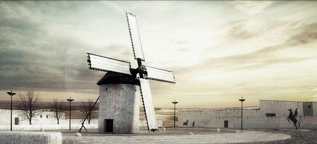 infografía molino de viento