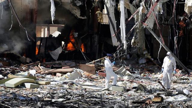 S2 yemen funeral destruction