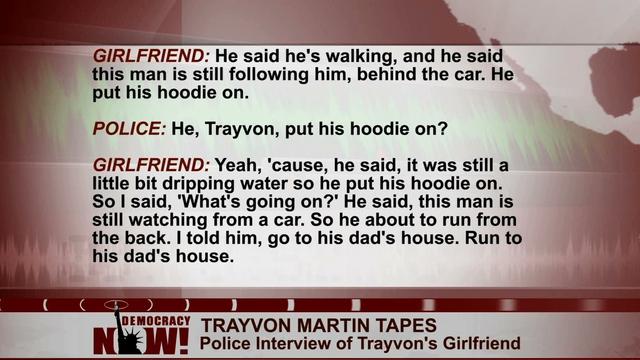 I Know He Was Scared Trayvon Martins Girlfriend