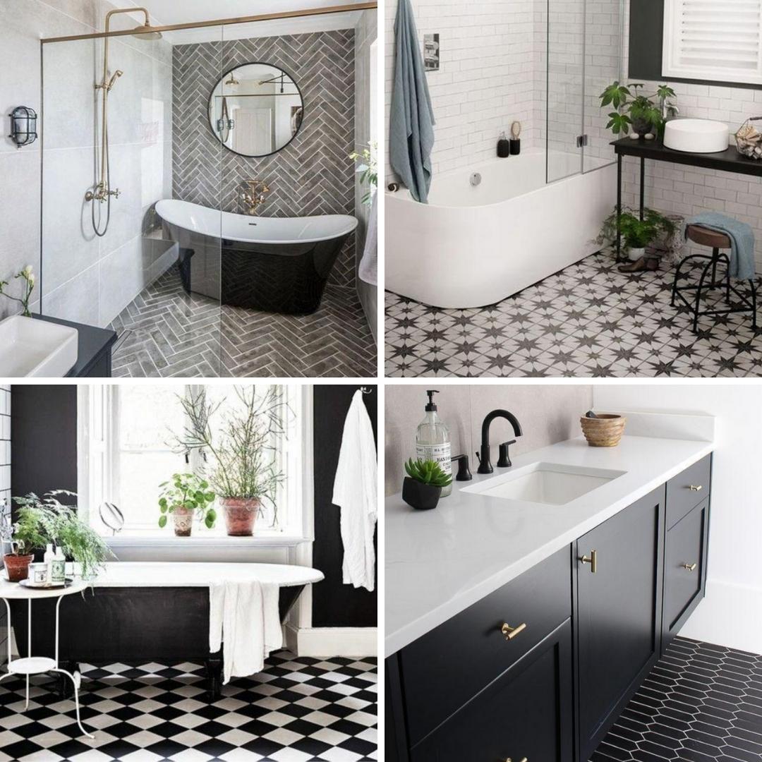 inspiration salle de bain noire