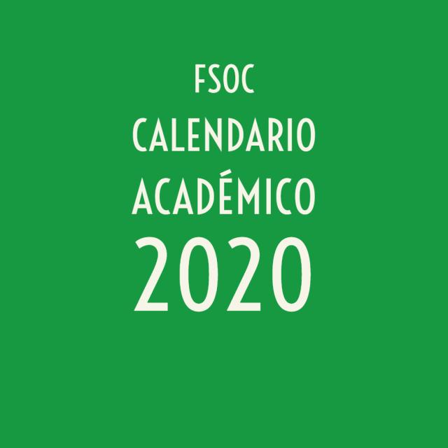 🗓 Calendario académico 2020