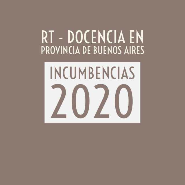 Incumbencias 2020 para el ejercicio de la docencia en Provincia de Buenos Aires