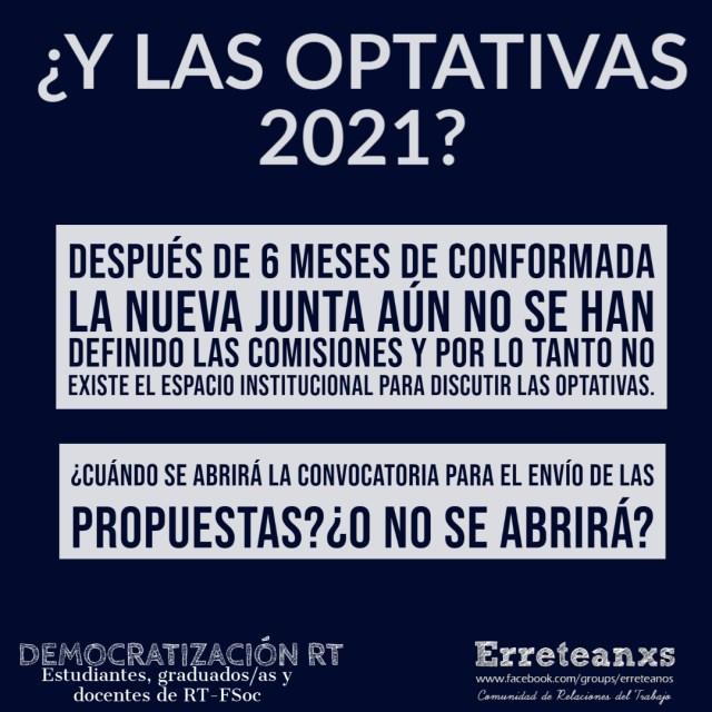 ¿Y las optativas 2021?