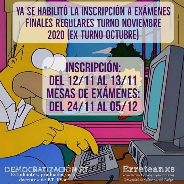 📝 Exámenes turno noviembre 2020