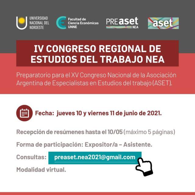IV Congreso Regional de Estudios del Trabajo NEA