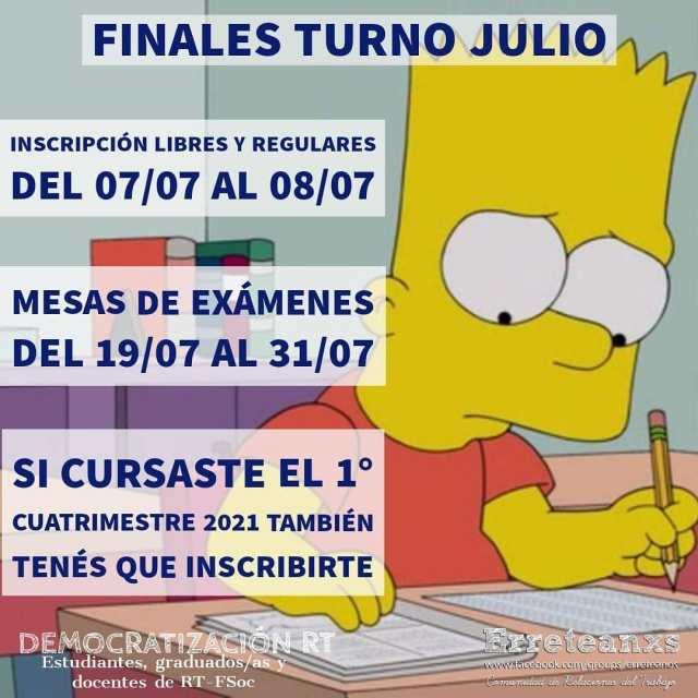 Finales turno julio 2021