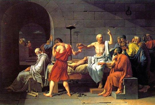 Jacques Louis David, La morte di Socrate, 1787.