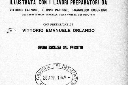 La Costituzione della Repubblica italiana illustrata con i lavori preparatori