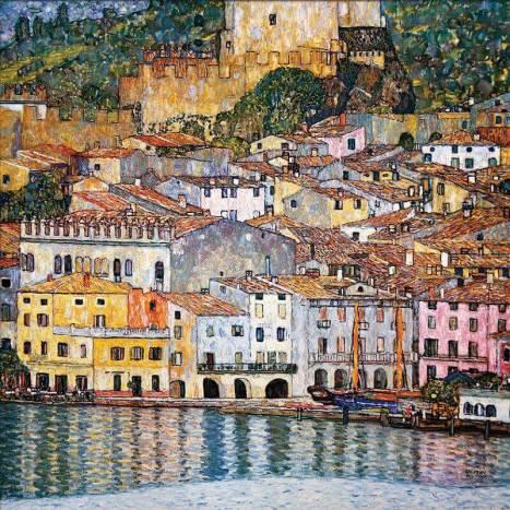 Gustav-Kimt-Rocca-Malcesine-sul-lago-di-Garda-1913