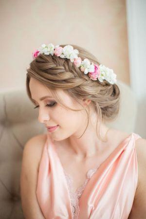 couronne fleurs mariée chic romantique