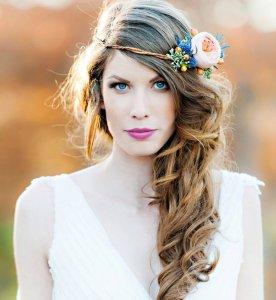 couronne fleurs colorblock mariée wedding planner bretagne