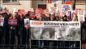 Demonstrasjon mot Barnevernet