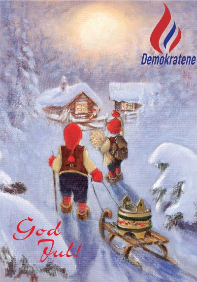 Julehilsen fra Demokratene