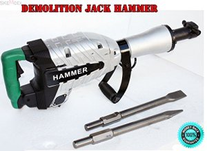 SKEMiDEX—HD Z1G45E ELECTRIC DEMOLITION JACK HAMMER CONCRETE BREAKER 1500 Watts. Needed For This Hammer! Heavy Duty Breaking Power From 120V Power Source. Shock Mounted Handles Absorbs Vibration