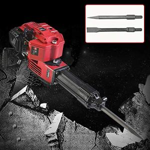 RanBB Demolition Jack Hammer, 1700W 52cc Petrol Demolition Jack Hammer Construction Concrete Breaker Punch Bits