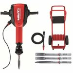 Hilti 15 Amp 120-Volt 1-1/8 in. TE 3000-AVR Polygon Demolition Jack Hammer Concrete Breaker Kit with Trolley, Cord and Chisels