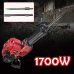 52CC Demolition Jack Hammer, 2 Stroke Industrial Electric Concrete Breaker Drill with Chisel, Gasoline Breaker Punch Drill Tool For Job Applications Effortless Control, 1700W 2.4HP
