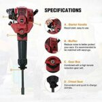 52CC 2 Stroke 2.4HP Jack Hammer Gasoline powered Demolition Construction Concrete Floor Stone Breaker Punch Drill Drill with Chisels