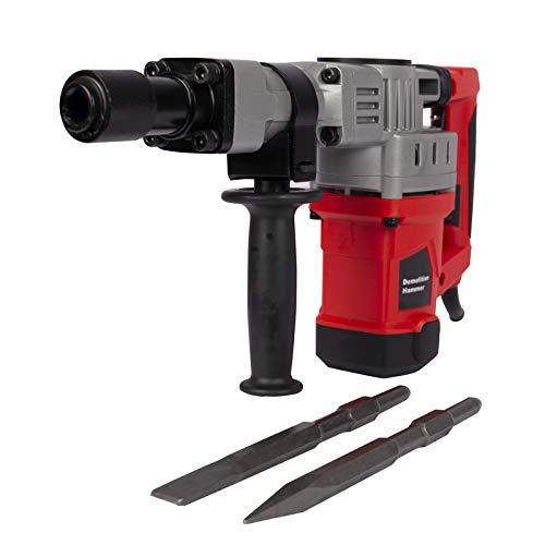 bjlongyi Portable Electric Demolition Drills Jack Hammer Concrete Breaker Trigger Hand Tool Black Red